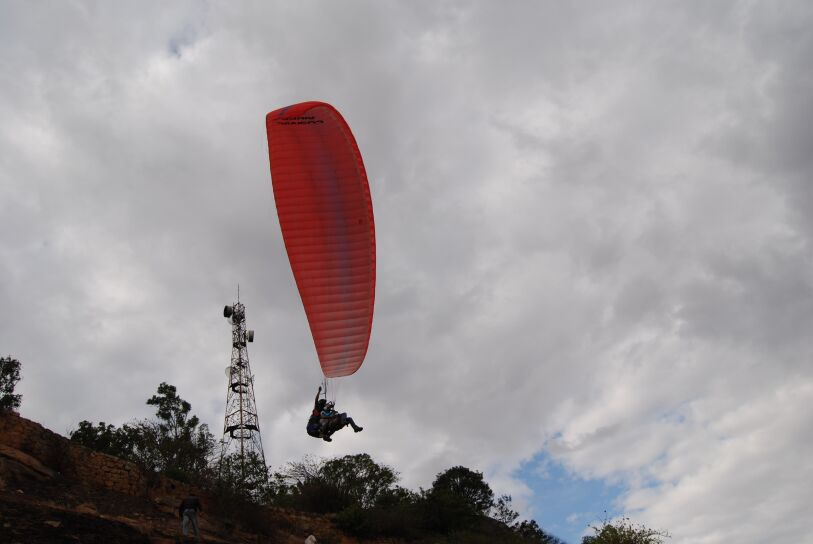 Paragliding in Nandi Hills
